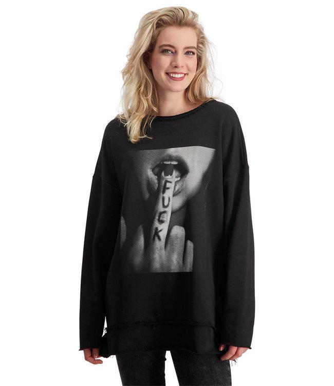 "Unisex- Sweater ""F*CK YOU"" - Black"