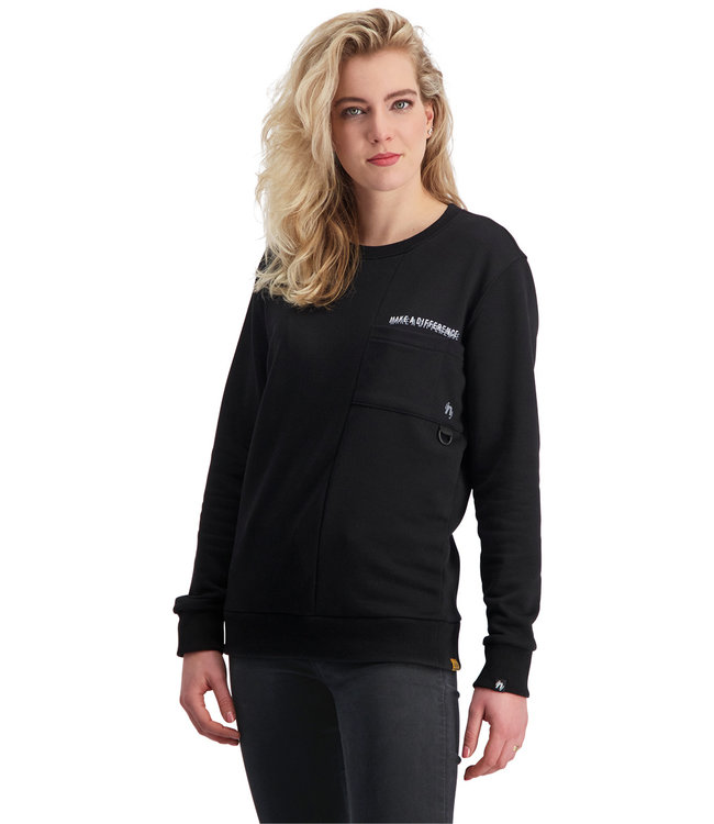 """Dames- Unisex- Sweater DIFFERENCE """"Limited Edition"""" Zwart"""