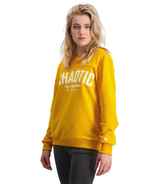 """Ladies- Unisex- Sweater CHAOTIC """"Limited Edition"""" Tuscan Yellow"""