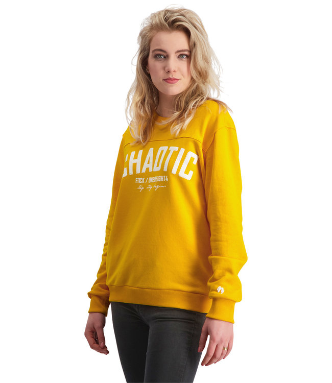 "Ladies- Unisex- Sweater CHAOTIC ""Limited Edition"" Tuscan Yellow"