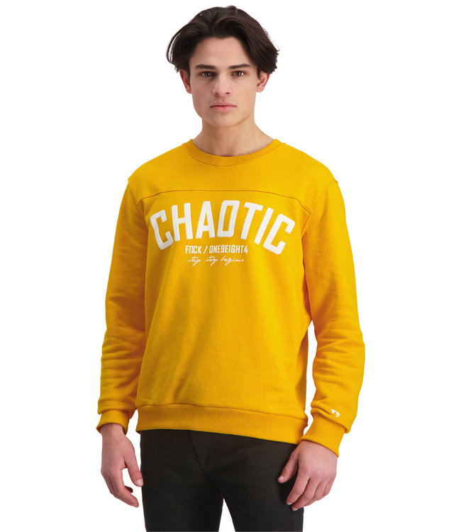 """Sweater CHAOTIC """"Limited Edition"""" Tuscan Geel"""