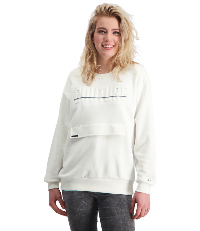 """Ladies- Unisex- Sweater COUTURE """"Limited Edition"""" Off-White"""