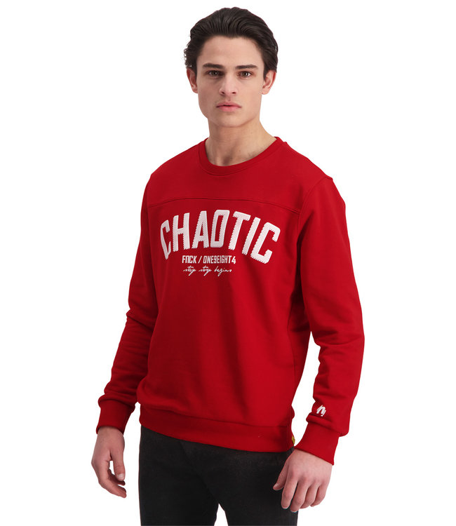 """Sweater CHAOTIC """"Limited Edition"""" Rood"""