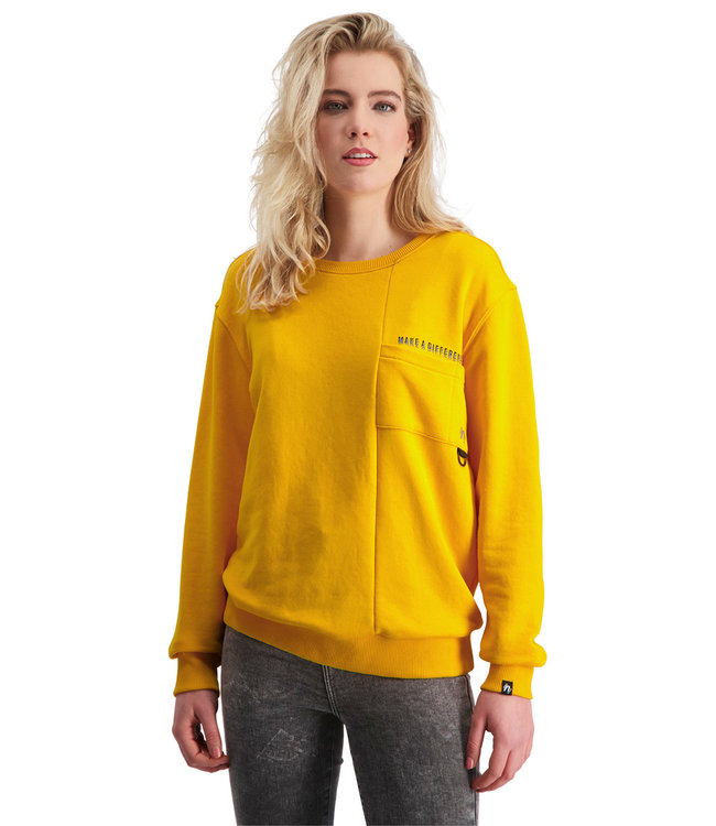 """Dames- Unisex- Sweater DIFFERENCE """"Limited Edition"""" Tuscan Geel"""