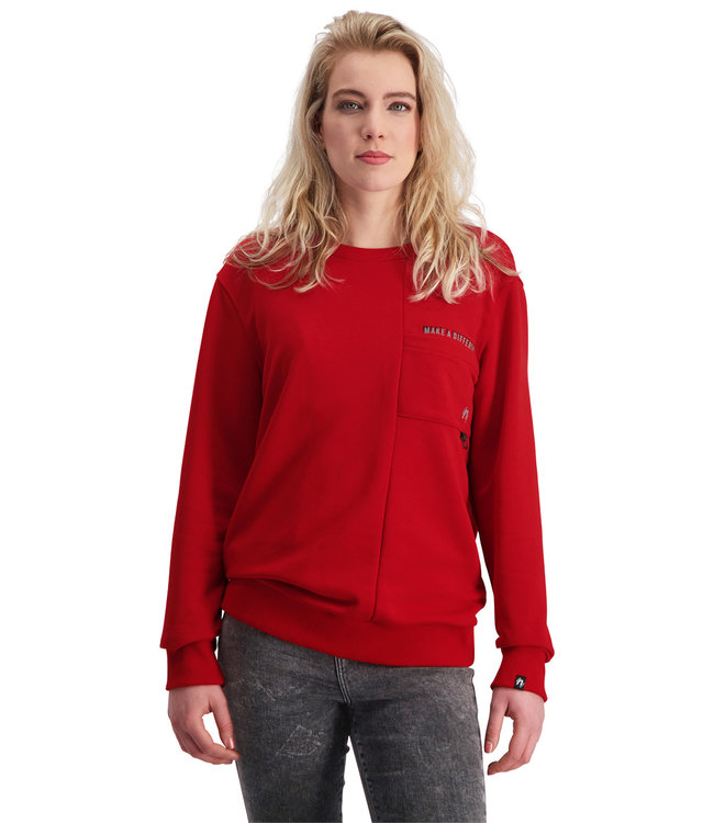 """Dames- Unisex- Sweater DIFFERENCE """"Limited Edition"""" Rood"""