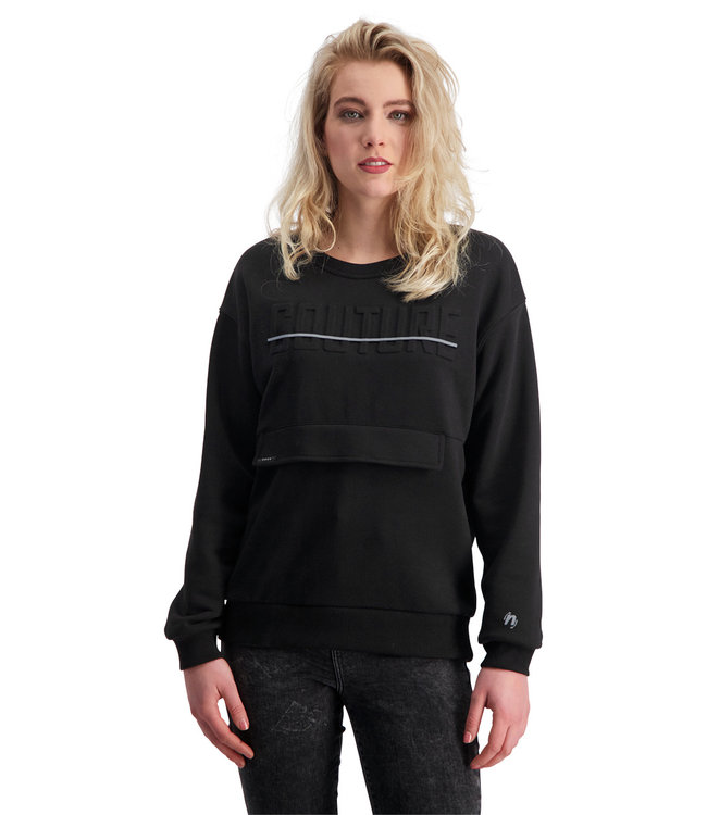 """Dames- Unisex- Sweater COUTURE """"Limited Edition"""" Zwart"""