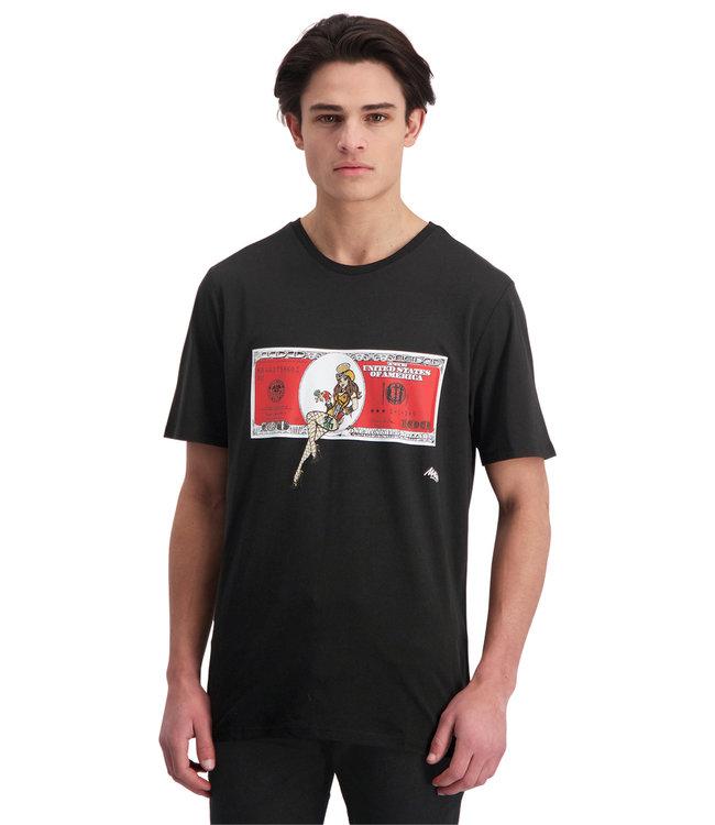 """T-shirt """"DOLLAR"""" Zwart"""