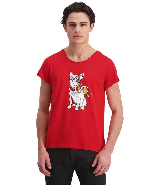 "T-shirt- Unisex ""BULLDOG"" Red"