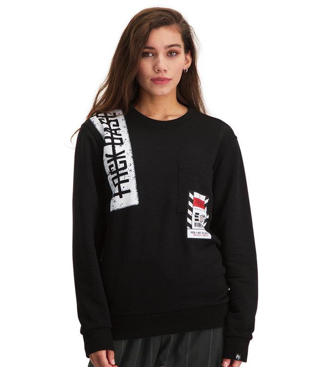 """Dames- Unisex- Sweater NEXT """"Limited Edition"""" Zwart"""