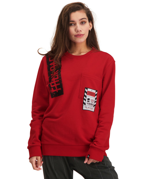 """Dames- Unisex- Sweater NEXT """"Limited Edition"""" Rood"""