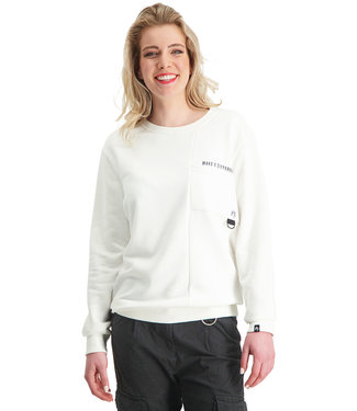 """Dames- Unisex- Sweater DIFFERENCE """"Limited Edition"""" Off-White"""