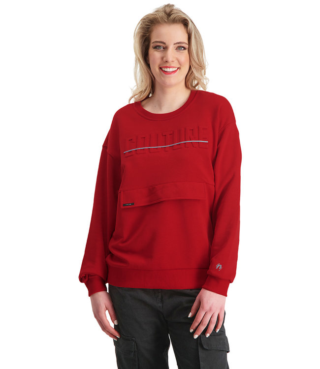 """Dames- Unisex- Sweater COUTURE """"Limited Edition"""" Rood"""