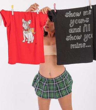 "T-shirt- Unisex ""BULLDOG"" Rood"