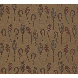 La Perla behang Papier Behang   La Perla   Bruin   Bloemen   22143