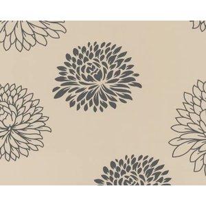 AS Creation behang Papier Behang | Living walls | Beige | Bloemen | 6248-33