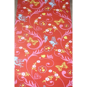 Dutch Wallcoverings Dutch Wallcoverings Rood Vlinder Behang 1161-4