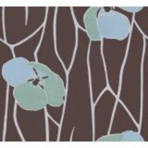 La Perla behang La Perla Bruin Bloemen Behang 22164
