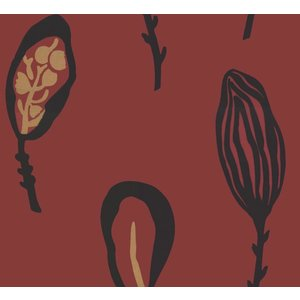 La Perla behang Papier Behang | La Perla | Rood | Veren | 22134