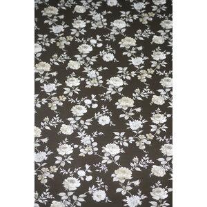 Elite behang Vinyl Behang | Elite  | Zwart \ Wit | Bloemen | 850022