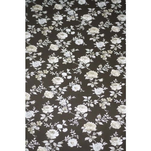 Elite behang Elite Zwart Wit Bloemen Behang 850022