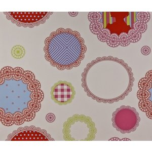 Dutch Wallcoverings Papier Behang | Dutch Wall Coverings | Gekleurd | Rond |1192-4