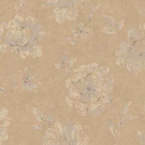 Calico behang Vlies Behang | Calico CL | Bruin | Bloemen | 16043