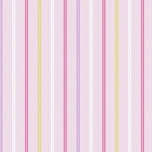 Deco Walls behang Papier Behang | Decorline Wallpaper Hoopla | Roze Strepen |  DL30740