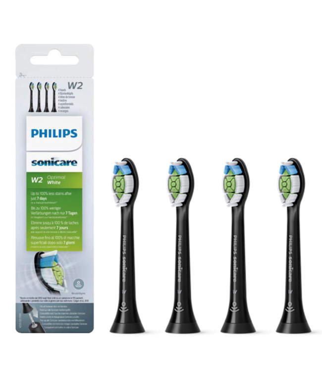 Philips Sonicare Philips Sonicare Opzetborstels Optimal White HX6064/11 - Black Edition