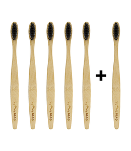 Everbright Everbright Bamboe tandenborstels  voordeelverpakking - 6 stuks