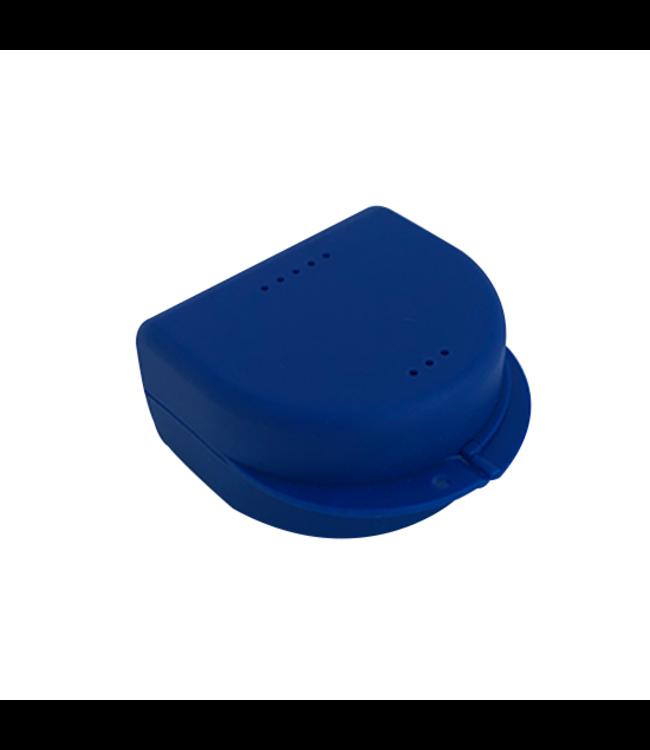 Gebitsbakje Donkerblauw - Medium - voor Protheses, Beugels, Bitjes