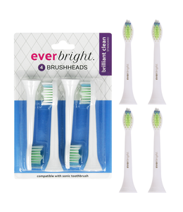 Everbright Everbright Brilliant Clean Standard Sonic opzetborstels - 4 stuks