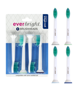 Everbright Everbright Pro Effect Standard Sonic opzetborstels - 4 stuks