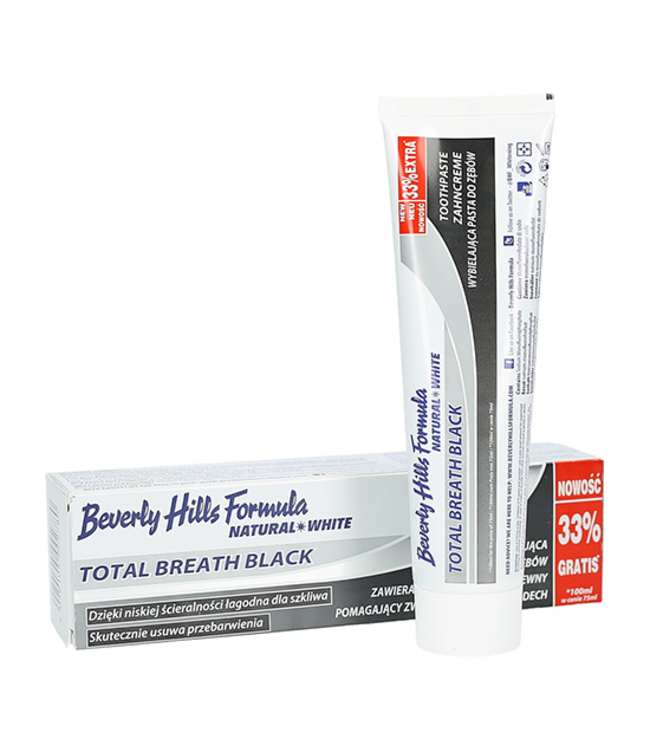 Beverly Hills Formula Beverly Hills Total Breath Black Whitening Tandpasta - 100 ml