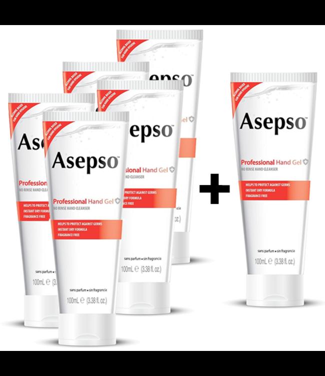 Asepso Desinfecterende Handgel 62% Alcohol - 5+1 GRATIS