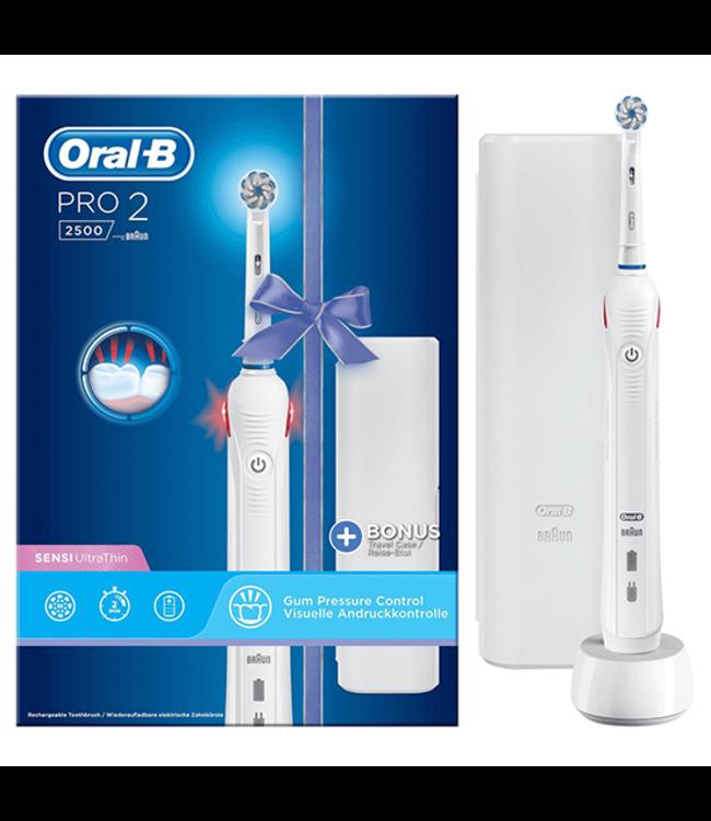 Oral-B Oral-B PRO 2 2500S White - Sensi UltraThin Elektrische Tandenborstel