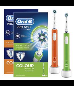 Oral-B Oral-B PRO 600 Orange & Green DUOPACK