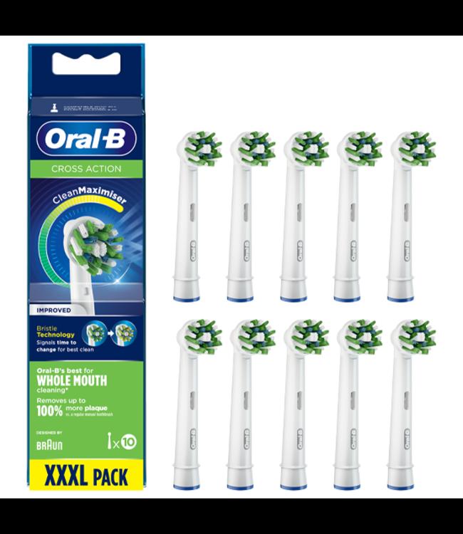 Oral-B Oral-B Cross Action Opzetborstels 8+2 GRATIS - CleanMaximiser