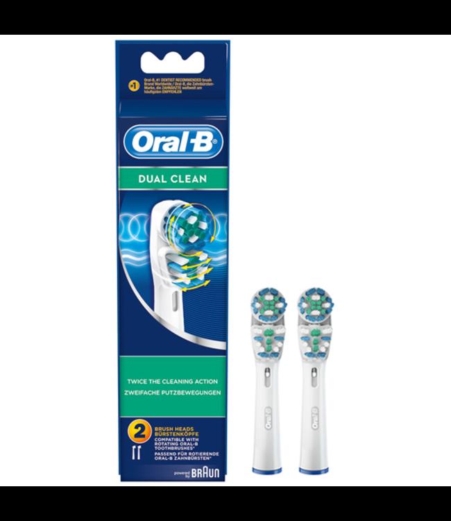 Oral-B Oral-B Dual Clean opzetborstels - 2 stuks