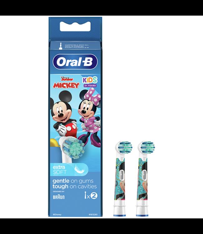 Oral-B Oral-B Kids Mickey Opzetborstels - 2 stuks