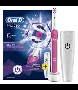 Oral-B Oral-B PRO 750 Pink 3D-White + Reisetui