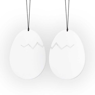 Felius pendant Hatched Easter Egg white 2-pack