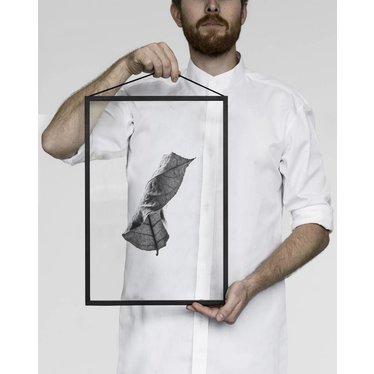 Moebe Print Floating Leaves 01 zwart-wit