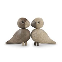 Kay Bojesen wooden Lovebirds - light-dark