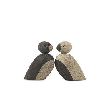 Kay Bojesen wooden Pair of Sparrows - light-dark
