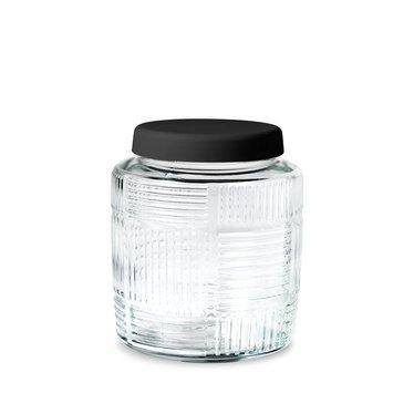 Rosendahl glass storage jar Nanna Ditzel 0,9 l black lid