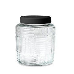 Rosendahl glass storage jar Nanna Ditzel 2 l black lid