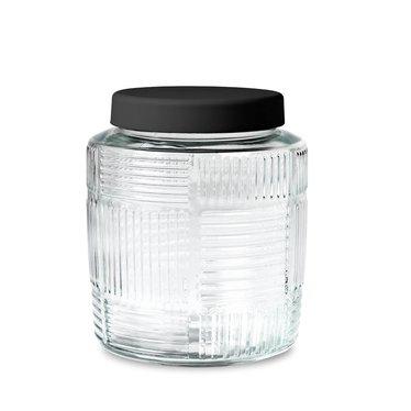 Rosendahl glass storage jar Nanna Ditzel 2 l black lid