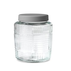 Rosendahl glass storage jar Nanna Ditzel 2 l grey lid