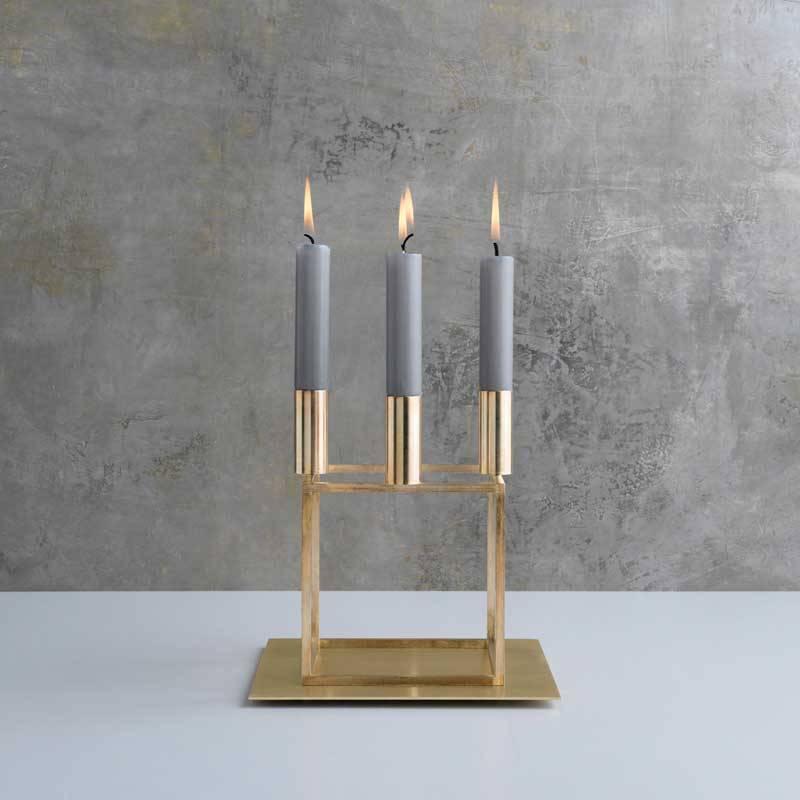 Welp By Lassen grijze kaarsen voor Kubus en Line kandelaar - Nordic Blends VN-88