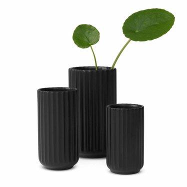 Lyngby Porcelaen Porseleinen vaas - Black